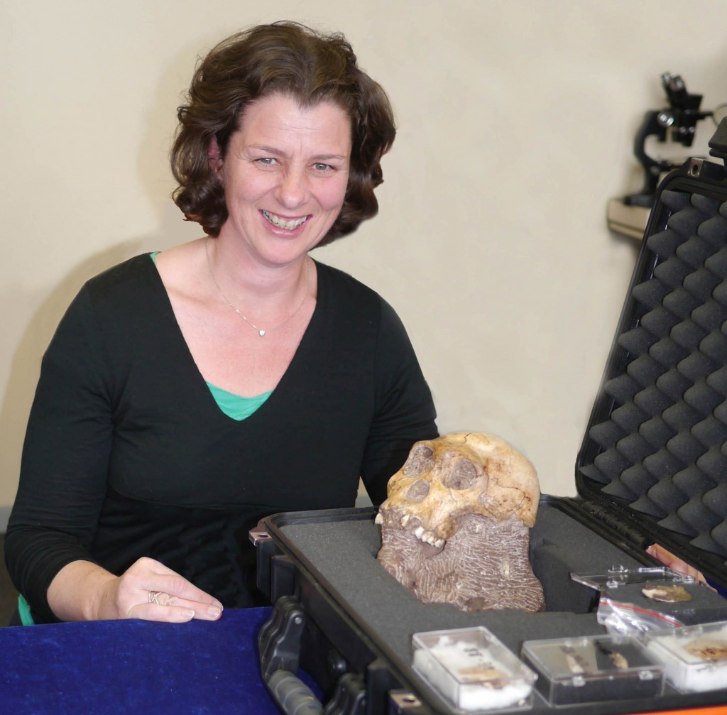 2012- Daniela with Australopithecus Sediba_bcu-wb